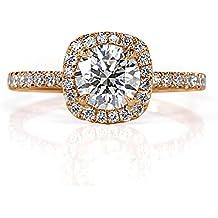 Mark Broumand 1.50ct Round Brilliant Cut Diamond Engagement Ring