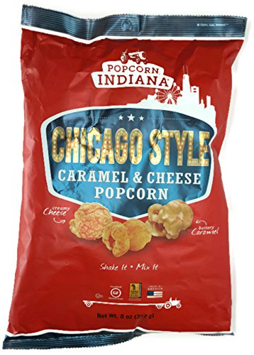 Popcorn Indiana Chicago Style Carmel & Cheese Popcorn, 8 Oz (Pack of 3)