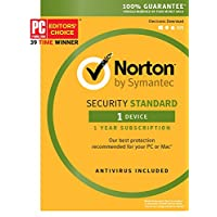 Deals on Norton Security Standard 3.0 2018 Email Delivery
