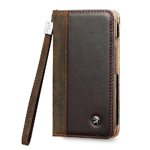 AceAbove iPhone 6 case, iPhone 6 4.7'' Wallet Case [Dark Brown] - Premium Genuine Leather Wallet Cover with [Card Slots] and [Strap] for iPhone 6 & iPhone 6s (Dark Brown) by AceAbove