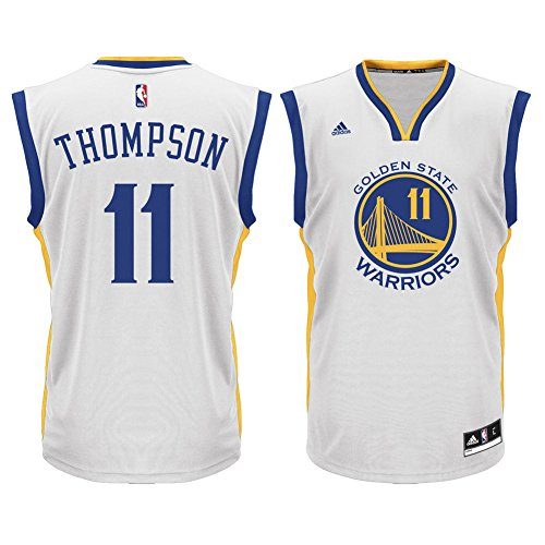 d1127a5b8 chic Klay Thompson Golden State Warriors White NBA Kids Home Replica Jersey