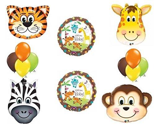 Jungle Safari Welcome Baby Shower Balloon Decoration Kit by Anagram (Baby Shower Jungle Decorations)