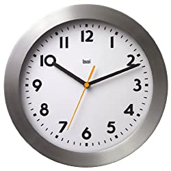 BAI Brushed Aluminum Wall Clock, Landmark