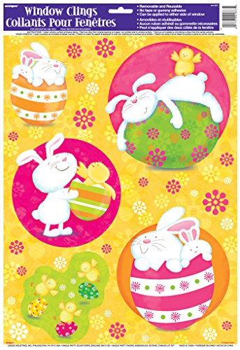 [Bunny Pals Easter Window Cling Sheet] (Bunny Window)