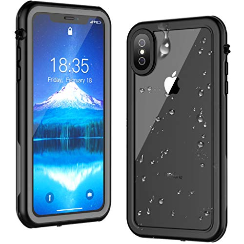(iPhone Xs Max Waterproof Case,ATOP Full Body Rugged Armor Cover Case with Built-in Screen Protector, IP68 Waterproof Dustproof Shockproof Case for iPhone Xs Max Case 6.5 Inch 2018 Release)