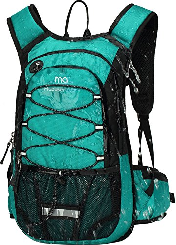 Mubasel Gear Insulated Hydration Backpack Pack with 2L BPA Free Bladder - Keeps Liquid Cool up to 4 Hours - for Running, Hiking, Cycling, Camping (Emerald)