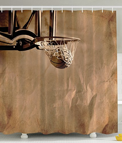 Basketball Decor Basketball Print For Girls And Boys Prime Sports Fan  Fabric Shower Curtain Men Women Teens College Dorm Decorations Of Sports  Lovers ...