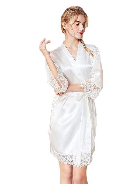 Pijamas de Seda para Mujer de Primavera y Verano, sección ...