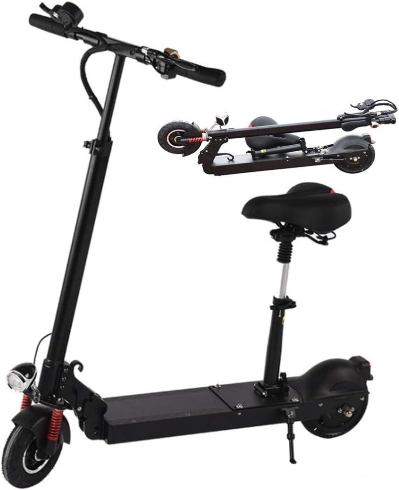 Gjfhome Plegable Patinete Eléctrico E-Scooter para Adultos, Motor Sin Escobillas de 300W Autonomía Ilimitada hasta 40Km,Pantalla LCD,Carga Máxima 120 Kg