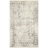 Safavieh Adirondack Collection ADR109C Ivory and Silver Oriental Vintage Distressed Area Rug (2'6