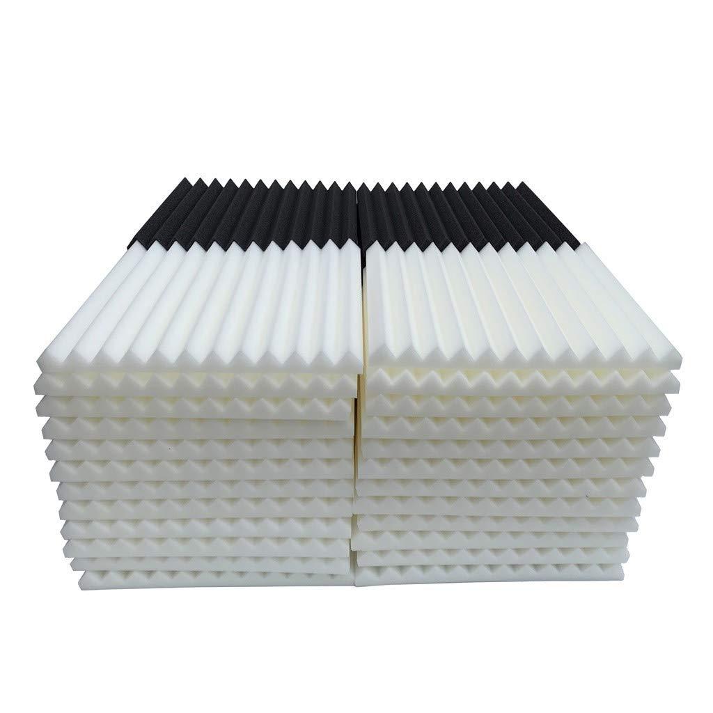 48Pcs Acoustic Foam Panel Sound Stop Absorption Sponge Studio KTV Soundproof (E)