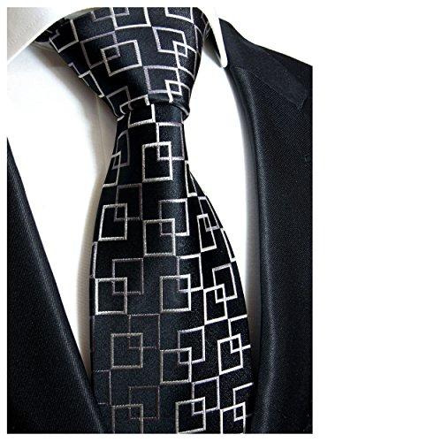 Cravate homme noir á carreaux 100% cravate en soie ( longueur 165cm )