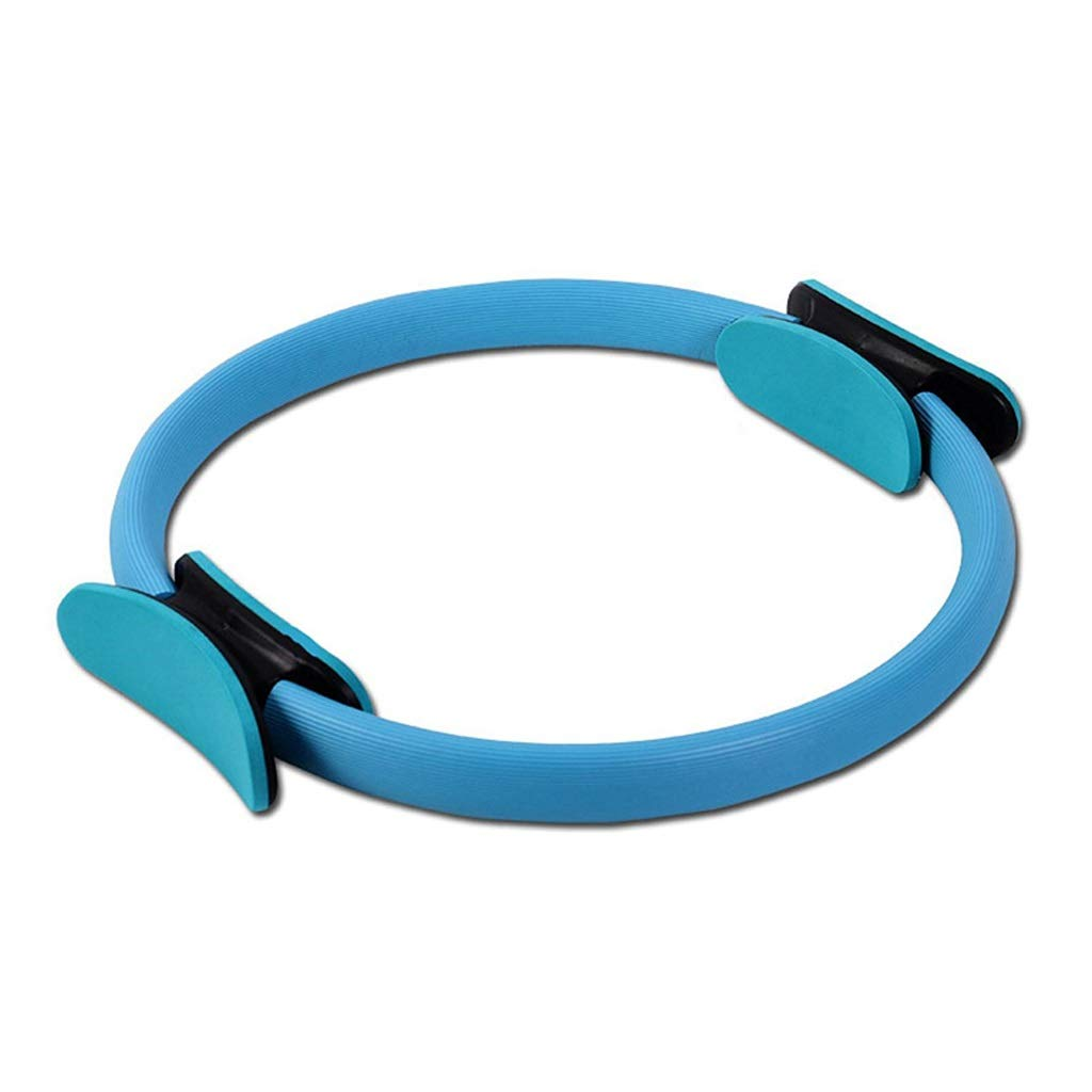 Pilates Double Handle Ring - Dual Grip Magic Exercise Fitness Circle to Burn Fat,Physical Therapy Tool Strengthen Core Core Balance (Color : Blue)