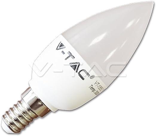 Lampada Oliva Candela LED E14 6W//40W 470LM VT-1855 2700K V-TAC Luce Bianca Calda