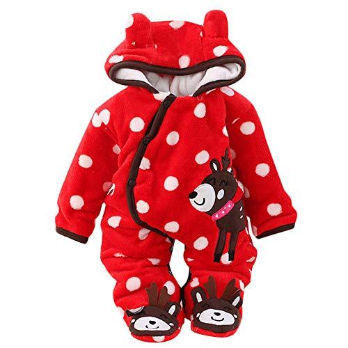 Suma-ma Kid Xmas Costume Hooed Button Down Fleece Jumpsuit Baby Sweatshirt