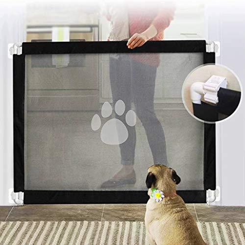Magic Gate for Dogs, 2020 New Durable Pet Safety Guard Gate Portable Baby Safety Gate Pet Magic Gate for Doorways, Stairways, Hallways