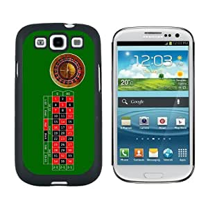 Roulette Wheel Table - Gambling - Snap On Hard Protective Case for Samsung Galaxy S3 - Black