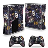 MightySkins Skin Compatible with Xbox 360 S Console - Midnight Blossom | Protective, Durable, and Unique Vinyl Decal wrap Cover | Easy to Apply, Remove, and Change Styles | Made in The USA