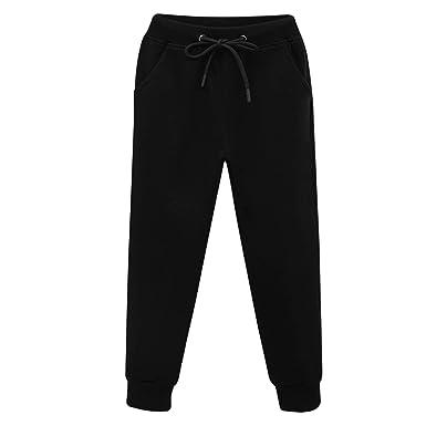 Magic Kids Boys Cotton Jogging Pants Fleece Lined Trousers Elastic Waist Sports