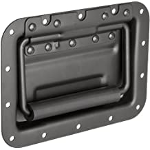 monroe steel recessed pull handle spring loaded rectangular grip dull black finish 7