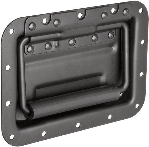 Monroe Steel Recessed Pull Handle, Spring Loaded