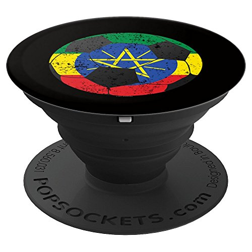 Soccer Ball Ethiopia Flag Ethiopian Flag - PopSockets Grip and Stand for Phones and Tablets (Ethiopia Football)