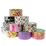 10 Rolls Printed Duck Brand Duct Tape Patterns Arts & Crafts DIY 100yds Punk Bulk Lot Crafting Hobby For Kids
