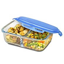 Smart Planet Pure Glass Bento Meal Container, , Clear