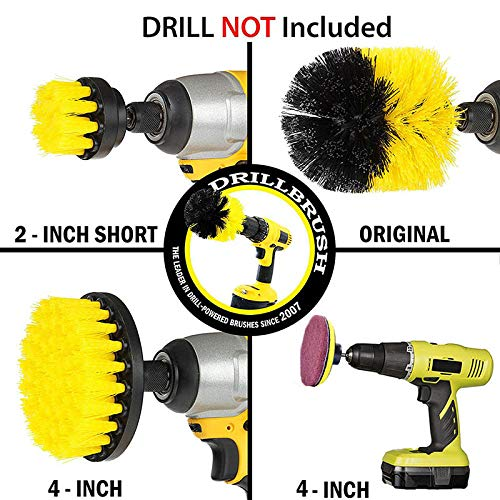 Ambility 10Pcs//Set Tile Grout Power Scrubber Cleaning Drill Brush Kit Scrub Tub Cleaner Tools
