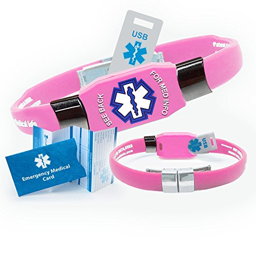Usb Medical Alert Bracelet - Medical Bracelets for Men