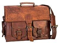 HIDE 1858 TM Style Full Grain Handmade Messenger Briefcase Bag