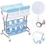 Blue PP+Steel Baby Changing Tables With Ebook