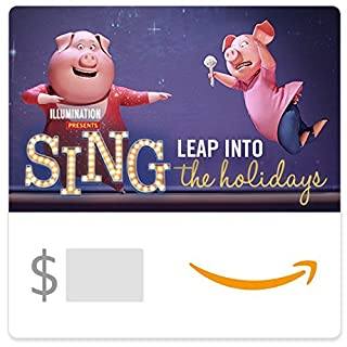 Amazon eGift Card - Sing - Leap into the holidays (Gunter and Rosita) (B01MXUY490) | Amazon price tracker / tracking, Amazon price history charts, Amazon price watches, Amazon price drop alerts