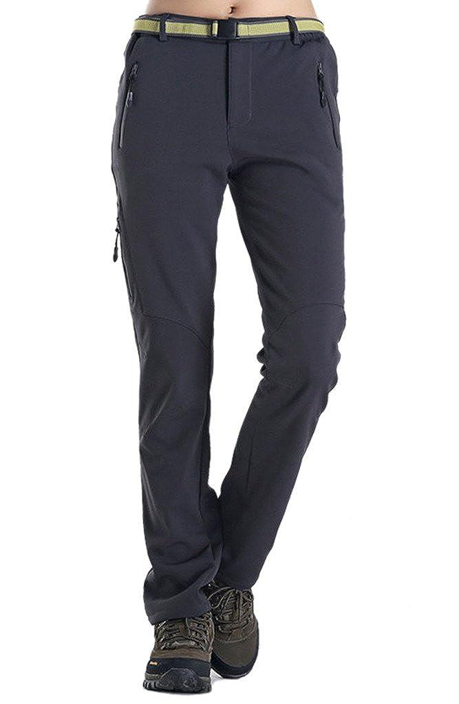 Geval Women's Windproof Softshell Fleece Snow Pants Outdoor Hiking pants HWZF1509womens