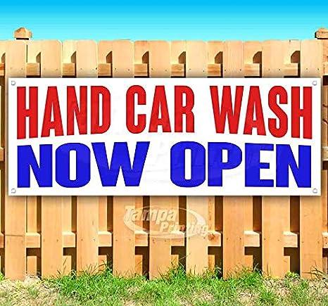 Amazon.com: Cartel de vinilo de mano para lavar el coche ...