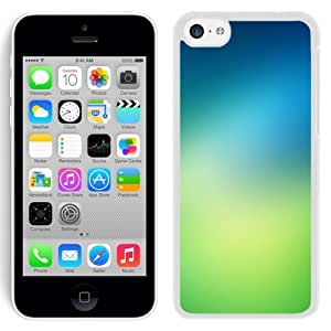 Customized Phone Case Design with Fresh Green iOS7 Gradient iPhone 5C Wallpaper in White