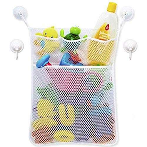 Bathroom Mesh-Baby Toy Organizer/Storage - Shower Caddy Hang Accessories Save Space with 4 Pocket