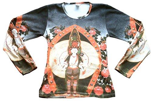 Vintage Blanco De Verde Tatuaje Nepal Ticila Negro Kunst Rojo Religión Mujer Larga Para Tara Color Bután Buddha Tipet Diseño Manga Star camiseta 8qgpwH