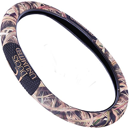 Ducks Unlimited Two-Grip Steering Wheel Cover (Mossy Oak Shadow Grass Blades Camouflage, Microfiber Fabric, Rubber Hand Grips, Sold Individually)