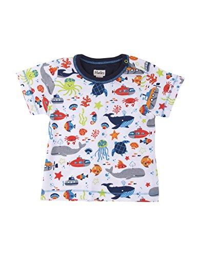 Hatley Baby Boys' Graphic Tee Shirt, Ocean Animals Green, (Hatley Animal)