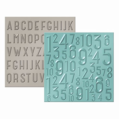 American Crafts 662690 We R Memory Keepers Next Level Embossing Folder, ABC 123 ()