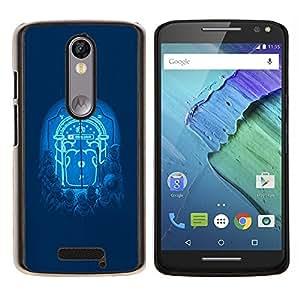 "Be-Star Único Patrón Plástico Duro Fundas Cover Cubre Hard Case Cover Para Motorola Droid Turbo 2 / Moto X Force ( Moonlight Puerta"" )"