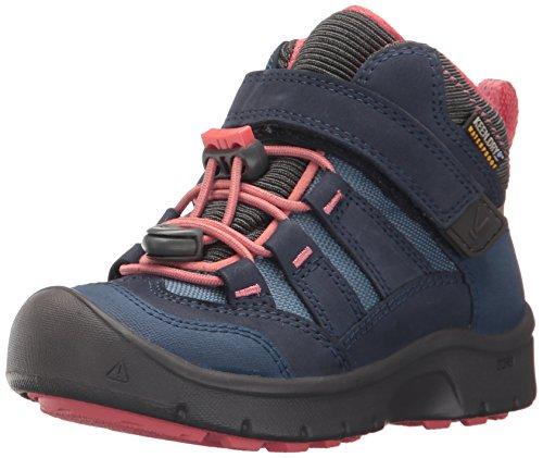 KEEN Unisex-Kids Hikeport Mid WP Hiking Boot, Dress Blues/Sugar Coral, 6 Youth US Big Kid