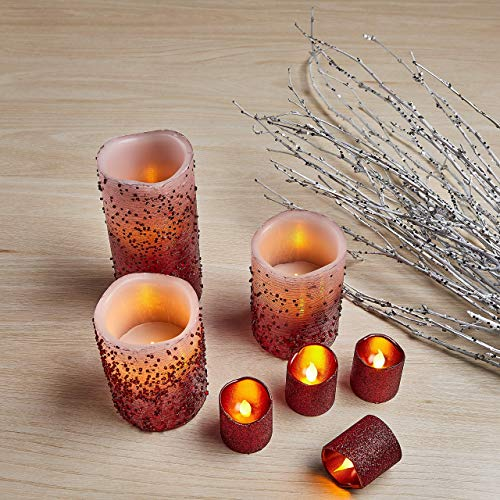 Original Smart Candle 100/% Real Wax Flame Flickering Pillar Candle