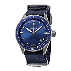 Best Epic Trends 515uRBcKW2L._SS300_ Blancpain Fifty Fathoms Bathyscaphe Automatic Blue Dial Men's Watch 5000-0240-NAOA