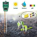 INHDBOX 3-in-1 Soil Tester,Plant Moisture/Light/pH Tester Sensor Meter & Universal pH1-14 Test Paper Kit,Monitor Plants Healthy Tester Set (Soil Tester+pH paper)