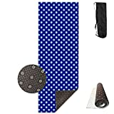 Blue Table Tennis Plaid Yoga Mat - Advanced Yoga Mat - Non-Slip Lining - Easy To Clean - Latex-Free - Lightweight And Durable - Long 180 Width 61cm