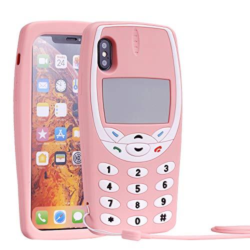 Mulafnxal 3D Nokiya Classic Silicone Case for iPhone X/iPhone Xs 5.8