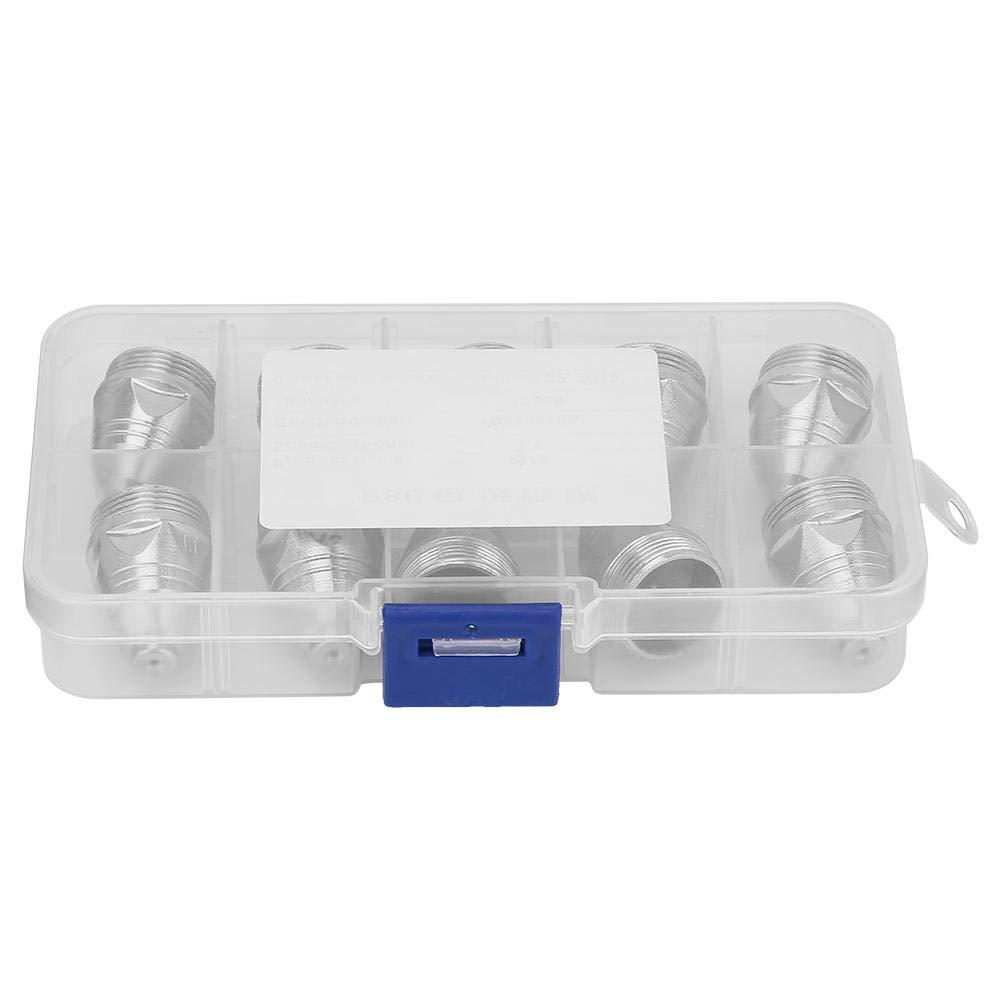 Zerone 10pcs P-80 Corte de plasma Consumible Cortador Antorcha Boquilla Puntas Electrodo 1.1 mm #1