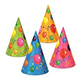 Club Pack of 144 Multi-Colored Fluorescent Fun and Festive Party Cone Hat 6.5''